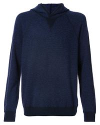 Vince - Blue Knitted Hood Jumper for Men - Lyst