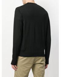 Dolce & Gabbana - Black Embroidered Logo Jumper for Men - Lyst