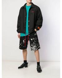 メンズ OAMC Splatter バミューダ パンツ Black