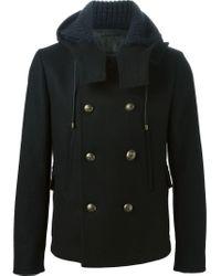 Dolce & Gabbana Black Brass Button Short Coat for men