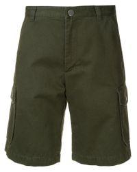 A.P.C. Green Classic Bermuda Shorts for men