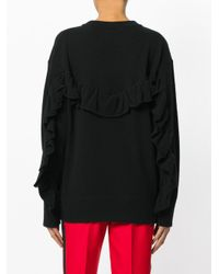Laneus - Black Crew Neck Jumper - Lyst