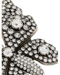 Gucci - Metallic Crystal-embellished Butterlfy Double Finger Ring - Lyst