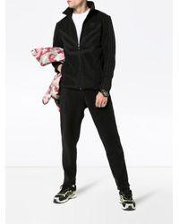 メンズ Adidas フリース トラックジャケット Black