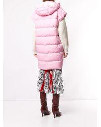 Дутый Жилет С Капюшоном MSGM, цвет: Pink