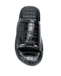 Шлепанцы С Тиснением Под Крокодила Balenciaga для него, цвет: Black