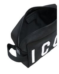 DSquared² - Black Icon Wash Bag for Men - Lyst