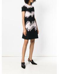 Vestido estampado con logo en contraste Valentino de color Black