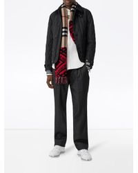 Burberry パターン スカーフ Red