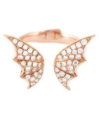 Stephen Webster - Metallic Bat Wings Diamond Ring - Lyst