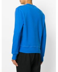 AMI Blue Sweatshirt With Letter Appliqués for men