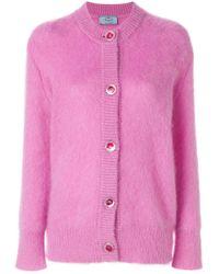 Prada Pink Oversized Fluffy Cardigan
