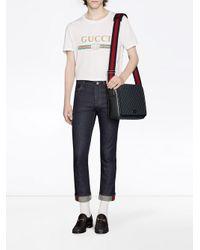 Gucci GG Supreme Messengerbag in het Black voor heren