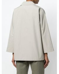 Aspesi Natural Short Button Parka Coat