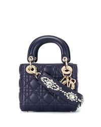 Borsa Lady Dior Cannage 2way di Dior in Blue