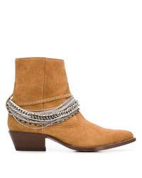 Ботинки В Стиле Вестерн С Цепочками Amiri для него, цвет: Brown