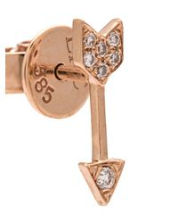 EF Collection Metallic Mini Arrow Diamond Stud Earrings