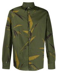 Рубашка С Абстрактным Принтом Ferragamo для него, цвет: Green