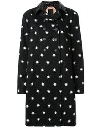 N°21 スタープリント コート Black