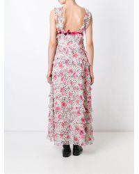 Giamba - Multicolor Printed Flounce Long Dress - Lyst