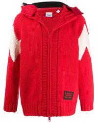 Giacca con cappuccio di Burberry in Red da Uomo