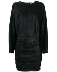 Robe courte à effet vinyle IRO en coloris Black