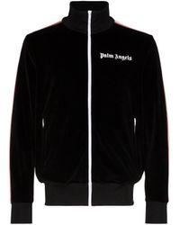 メンズ Palm Angels ロゴ トラックジャケット Black