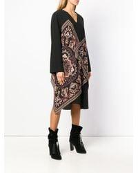 Etro Black Paisley Print Dress