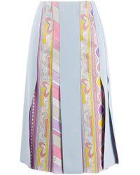 Emilio Pucci グラフィック パネルスカート Blue