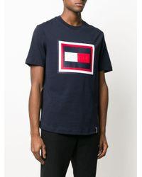 メンズ Tommy Hilfiger ロゴ Tシャツ Blue