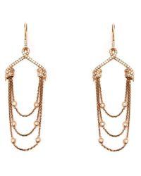 Stephen Webster - Metallic Draped Diamond Earrings - Lyst