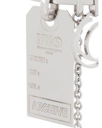 MM6 by Maison Martin Margiela | Metallic Tag Bracelet | Lyst