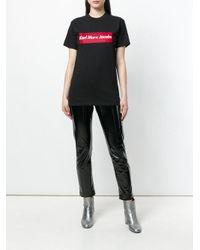 BROGNANO Black Printed Logo T-shirt