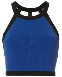 Top con scollatura posteriore di Nagnata in Blue