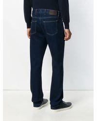 Ermenegildo Zegna Blue Mid-rise Straight-leg Jeans for men