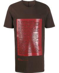 メンズ Rick Owens Drkshdw Traume プリント Tシャツ Red