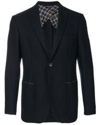 Tonello Blue Slim Fit Blazer for men