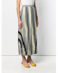 Liu Jo ストライプ プリーツスカート Multicolor