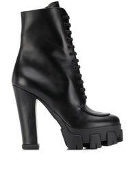 Prada Black Heeled Ankle Boots