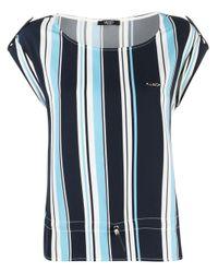 Liu Jo ドローストリングヘム Tシャツ Blue