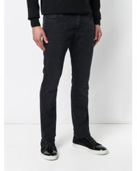 Billionaire Black Embroidered Logo Straight Cut Jeans for men