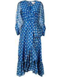 Sachin & Babi Rae ラップ ドレス Blue
