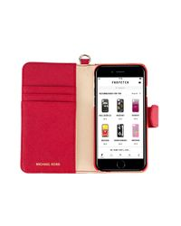 MICHAEL Michael Kors Red Logo Plaque Iphone 7 Case