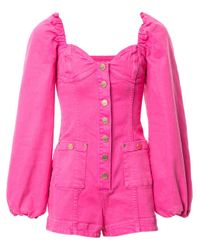 Alice McCALL Pink Mystical Moments Denim Playsuit