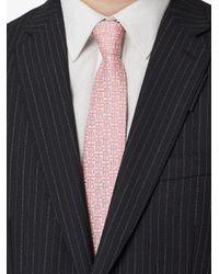 Cravatta jacquard con monogramma di Burberry in Pink da Uomo