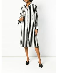 FEDERICA TOSI - Black Striped Shirt Dress - Lyst