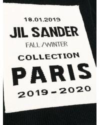 メンズ Jil Sander ロゴ スカーフ Black