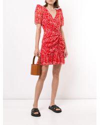 Parker Krislyn フローラル ドレス Red