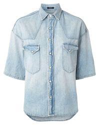 R13 デニムシャツ Blue