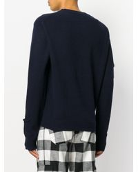 J.W. Anderson - Blue Pocket Detail Sweater for Men - Lyst